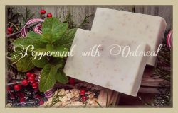 Peppermint with Oatmeal Goat Milk Soap